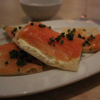 Smoked salmon Flammkuchen