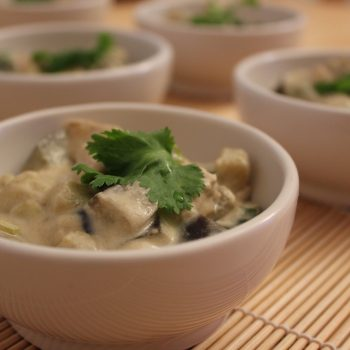 Chicken green curry bowls