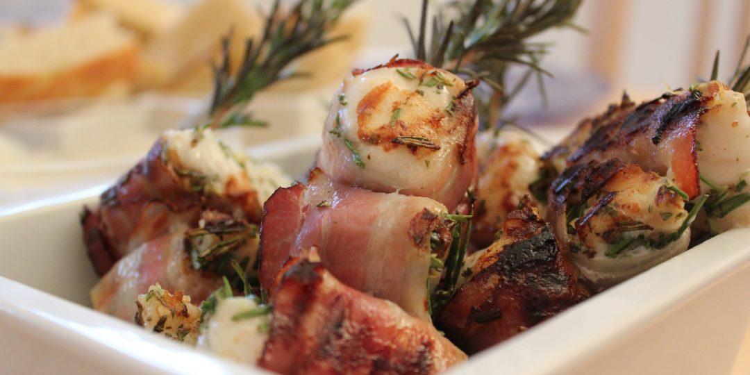 Little monkfish rosemary kebabs