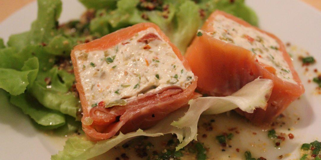 Ricotta and smoked salmon terrine