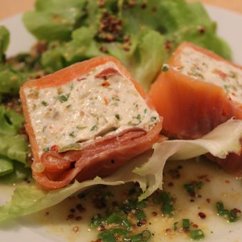 Ricotta and smoked salmon terrine