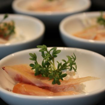 Smoked trout with horseradisch cream and cress sprouts