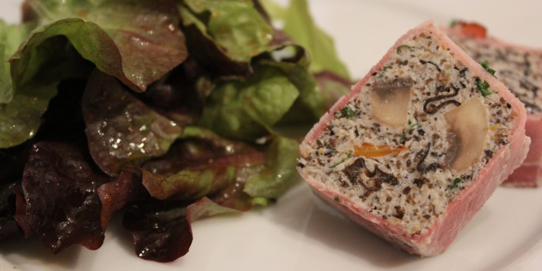 Wild mushrooms terrine with baked ham
