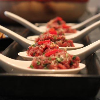Spoon of Asian tartare