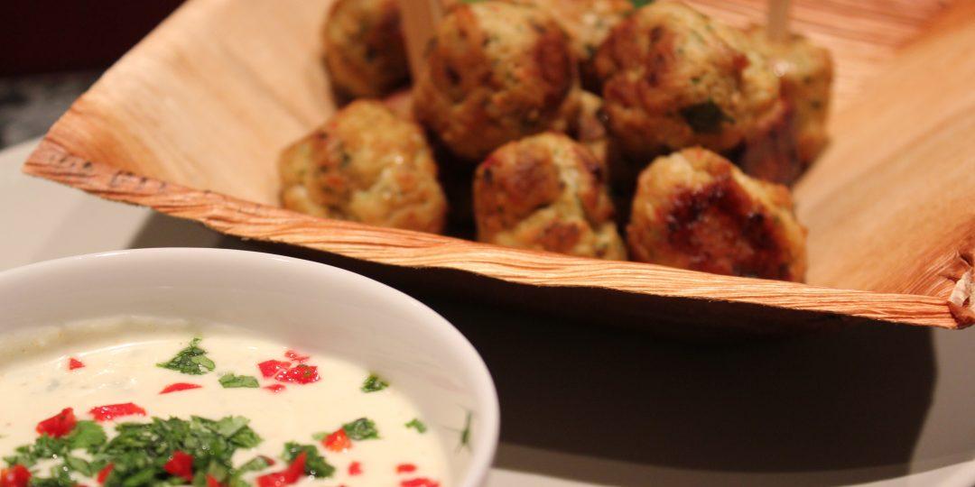 Chicken meatballs Caribbean style