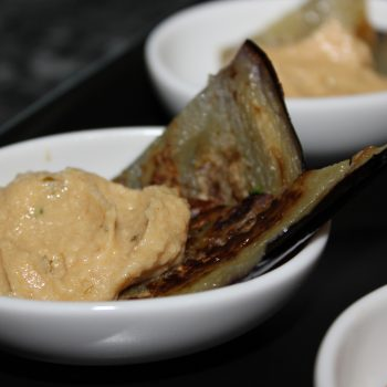 Hummus with aubergine