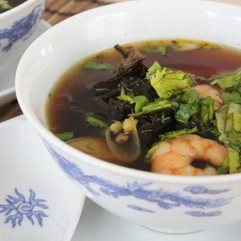 Hot Asian shrimp soup