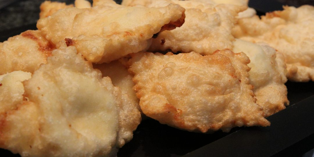 Fried lemon ricotta ravioli