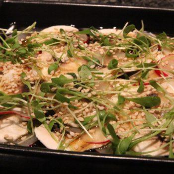 Mushroom and radishes salad