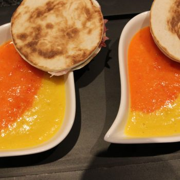 Red and Yellow pepper cream soup