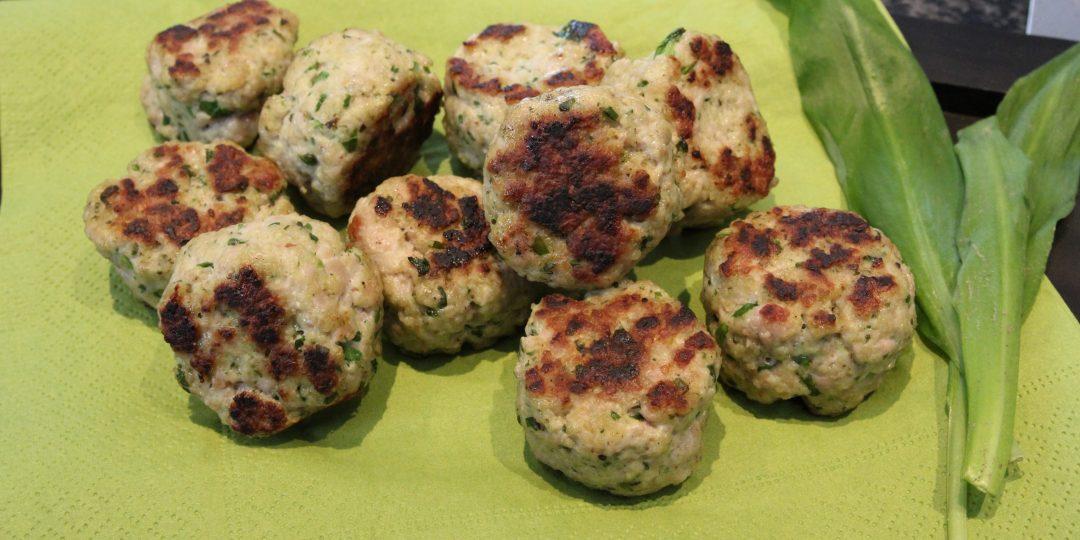 Pork meatballs with wild garlic