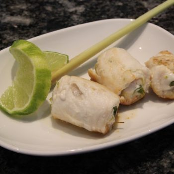 Pangasius rolls with lime and thai basil