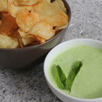 Peas and mint dip for chips