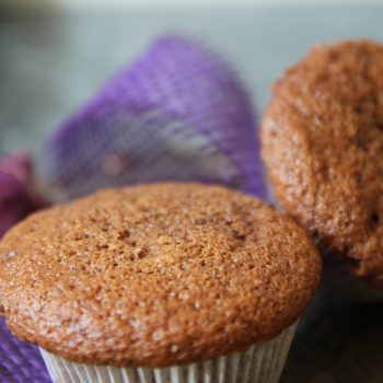 Chocolate muffins with a soft surprise