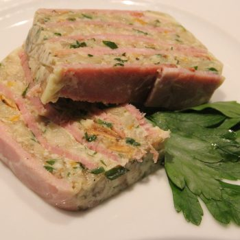 Burehamme terrine with wild mushrooms