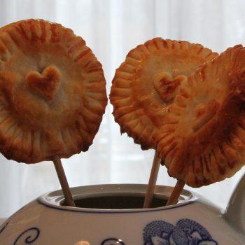 Raspberry pie pops