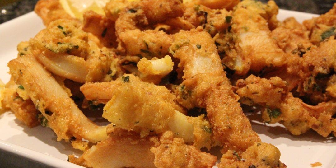Squid pakora