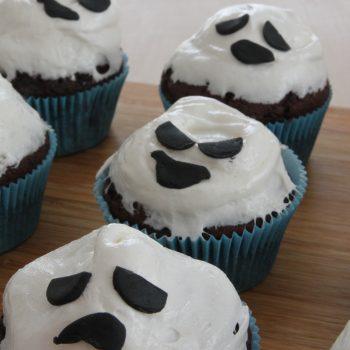 Marshmallow chocolate muffin