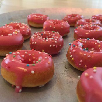 Mini glazed buttermilk donuts