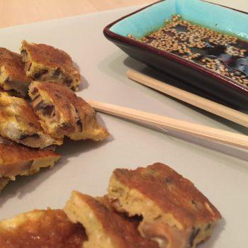 Shiitake omelettes
