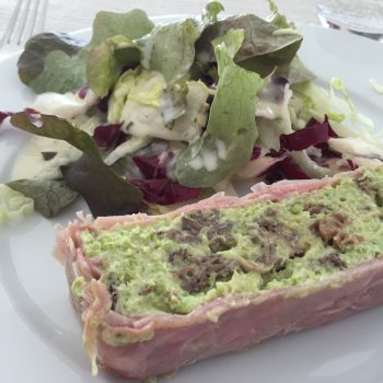 Asparagus and morels terrine