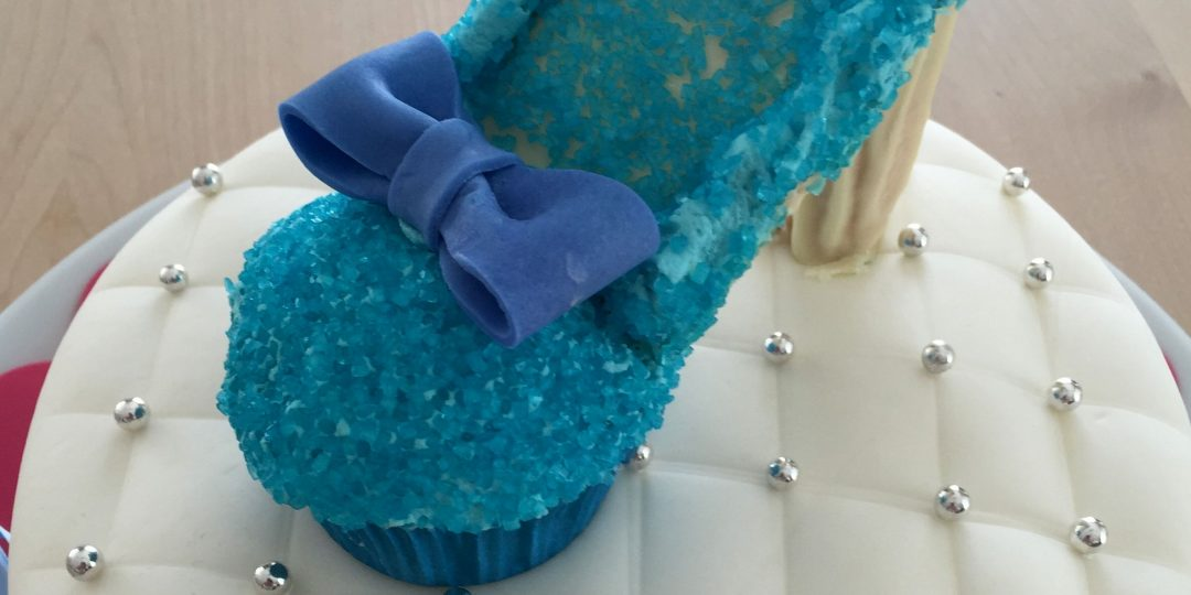 Shoe on a cushion cake