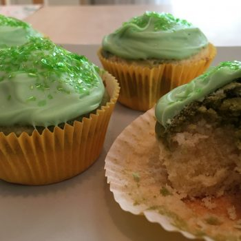 Coconut and matcha cupcakes