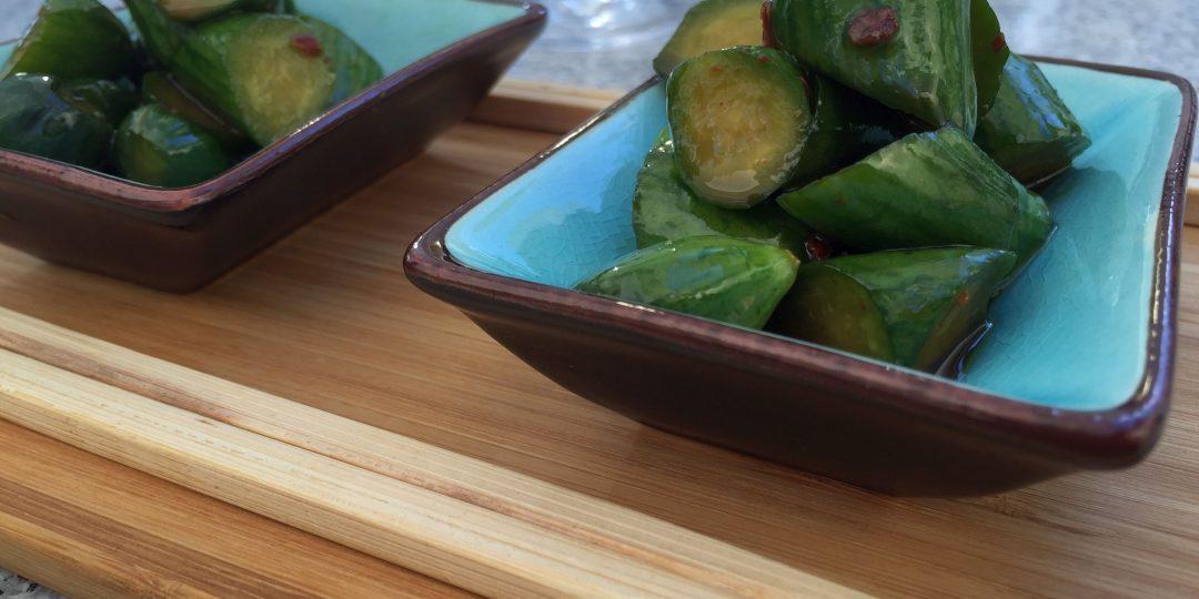 Japanese style cucumber salad