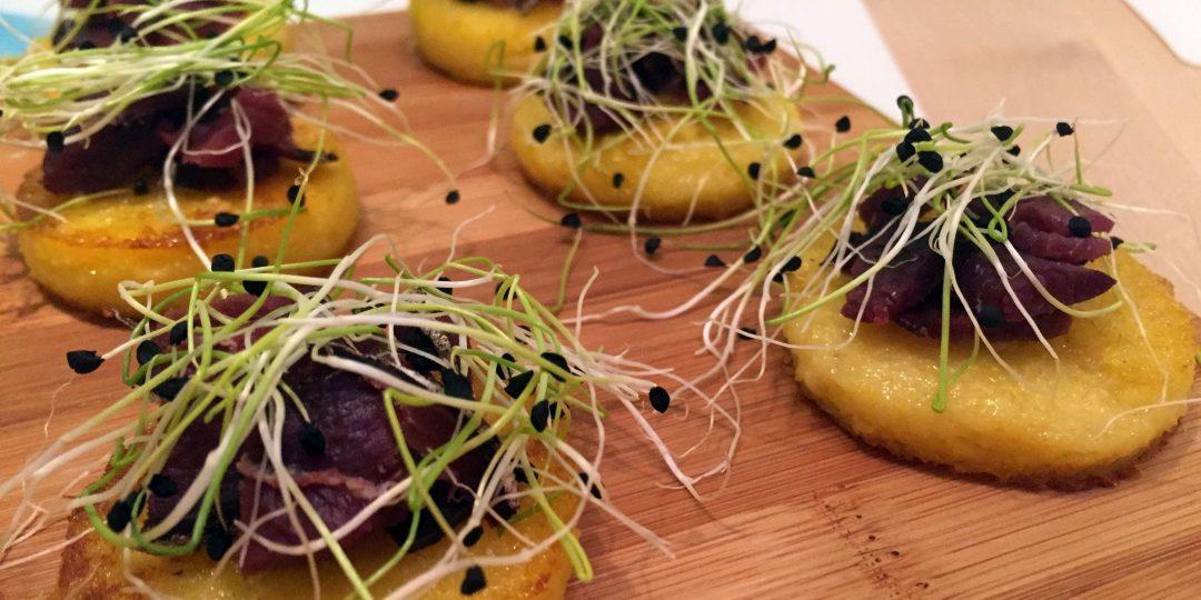 Polenta crostini