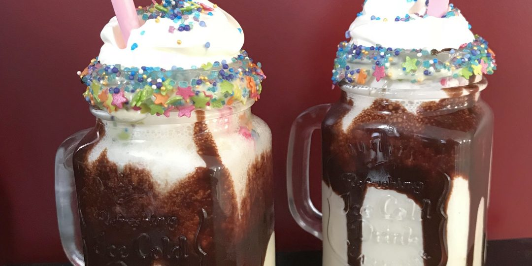 Vanilla and chocolate milkshake