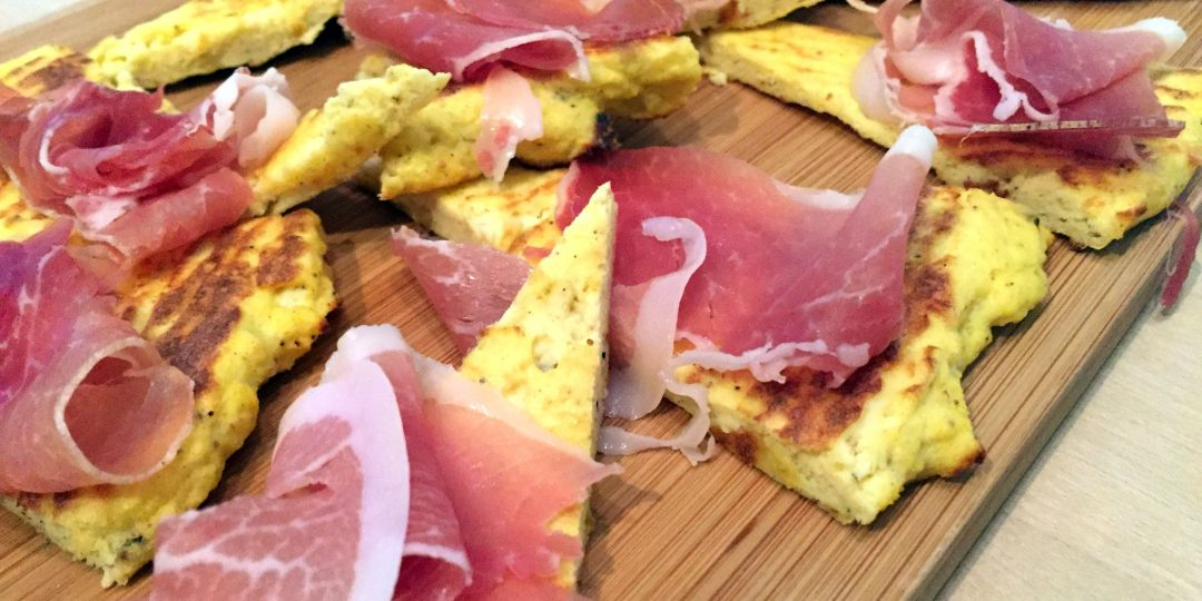 Cauliflower wedges with prosciutto