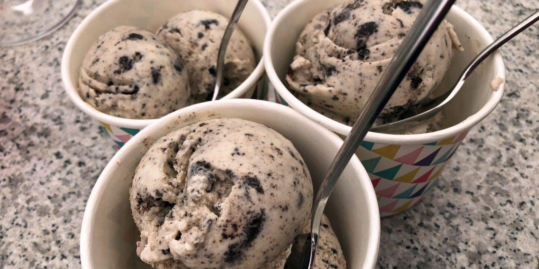 Chocolate chip and Oreo's icecream