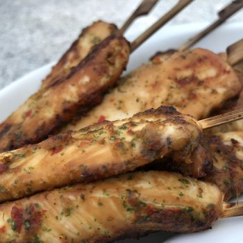 Chicken fillet kebabs